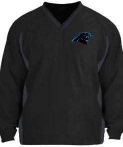 Private: Carolina Panthers Tipped V-Neck Windshirt