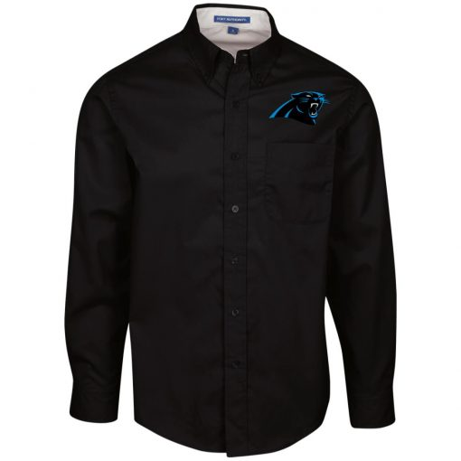 Private: Carolina Panthers Men's LS Dress Shirt