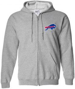 Private: Buffalo Bills Zip Up Hooded Sweatshirt