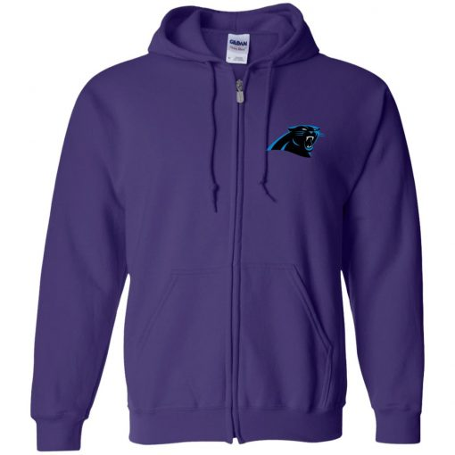 Private: Carolina Panthers Zip Up Hooded Sweatshirt