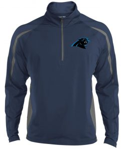 Private: Carolina Panthers Men's Sport Wicking Colorblock 1/2 Zip