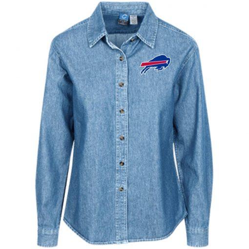 Private: Buffalo Bills Women's LS Denim Shirt