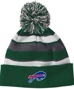 Private: Buffalo Bills Striped Beanie with Pom