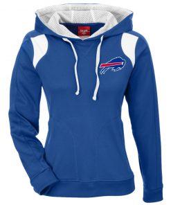 Private: Buffalo Bills Ladies' Colorblock Poly Hoodie