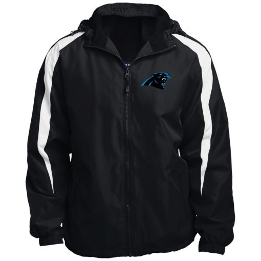 Private: Carolina Panthers Fleece Lined Colorblocked Hooded Jacket