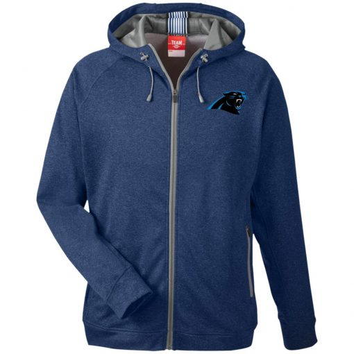 Private: Carolina Panthers Men's Heathered Performance Hooded Jacket