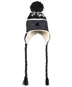 Private: Carolina Panthers Hat with Ear Flaps and Braids