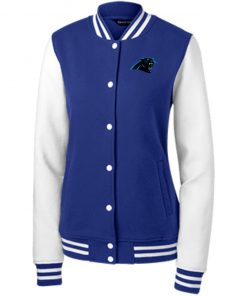 Private: Carolina Panthers Women's Fleece Letterman Jacket