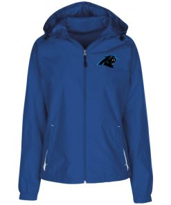 Private: Carolina Panthers Ladies' Jersey-Lined Hooded Windbreaker