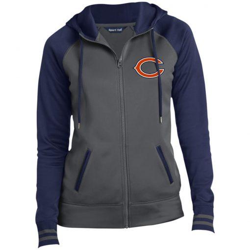 Private: Chicago Bears Ladies' Moisture Wick Full-Zip Hooded Jacket