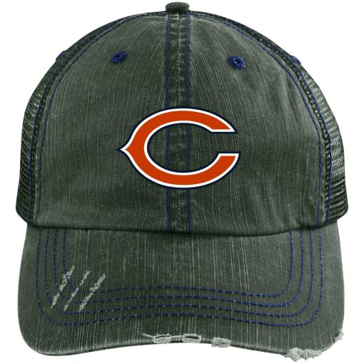 Private: Chicago Bears Distressed Unstructured Trucker Cap