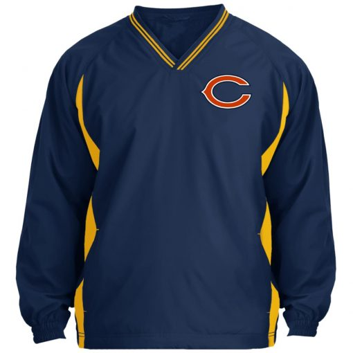 Private: Chicago Bears Tipped V-Neck Windshirt