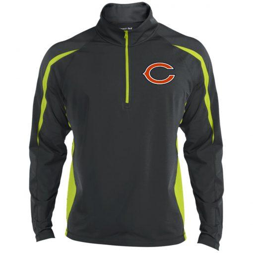 Private: Chicago Bears Men's Sport Wicking Colorblock 1/2 Zip