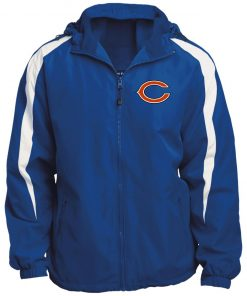 Private: Chicago Bears Fleece Lined Colorblocked Hooded Jacket
