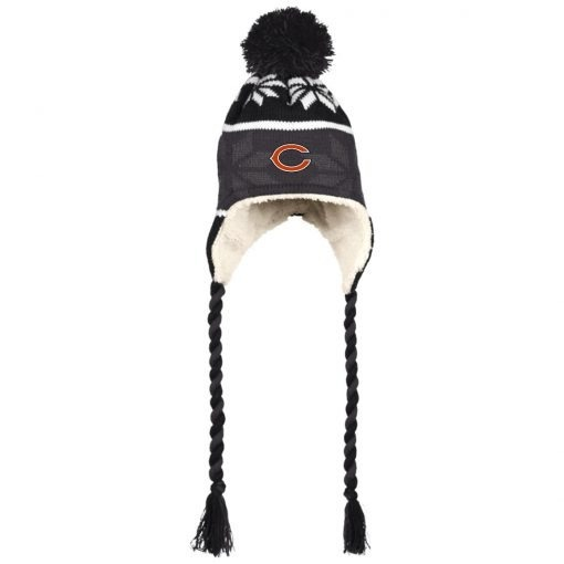Private: Chicago Bears Hat with Ear Flaps and Braids