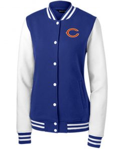 Private: Chicago Bears Women's Fleece Letterman Jacket