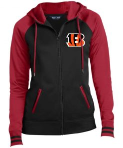 Private: Cincinnati Bengals Ladies' Moisture Wick Full-Zip Hooded Jacket