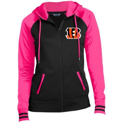 Private: Cincinnati Bengals Ladies' Moisture Wick Full-Zip Hooded Jacket