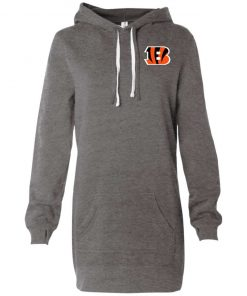 Private: Cincinnati Bengals Women's Hooded Pullover Dress