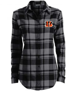 Private: Cincinnati Bengals Ladies' Plaid Flannel Tunic
