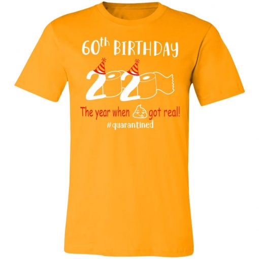 Private: 60th Birthday 2020 The Year When Shit Got Real Quarantined Unisex Jersey Tee