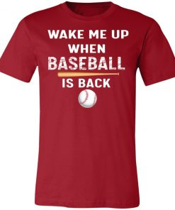 Private: GydiaGarden Wake Me Up When Baseball is Back Unisex Jersey Tee