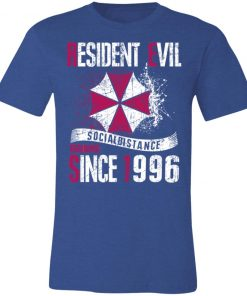 Private: Resident evil social distance training since 1996 Unisex Jersey Tee