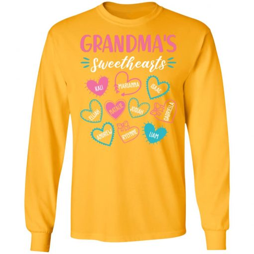 Private: Personalized Grandma's Sweethearts LS T-Shirt