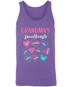Private: Personalized Grandma's Sweethearts Unisex Tank