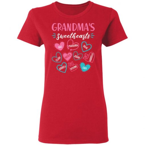 Private: Personalized Grandma's Sweethearts Women's T-Shirt