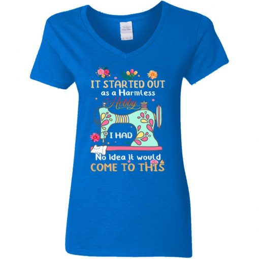 Private: It Started Out As A Harmless Hobby Women's V-Neck T-Shirt