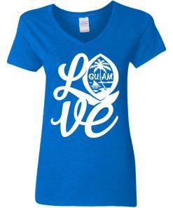 Private: I Love Guam Women's V-Neck T-Shirt