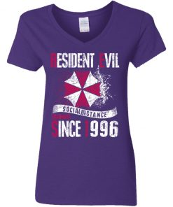 Private: Resident evil social distance training since 1996 Women's V-Neck T-Shirt
