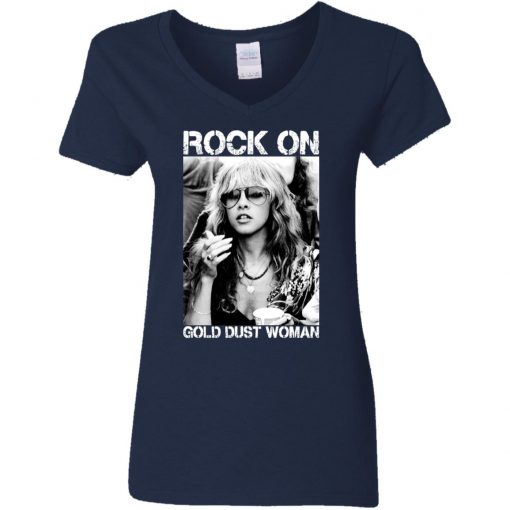 Private: Rock On Gold Dust Woman Women's V-Neck T-Shirt