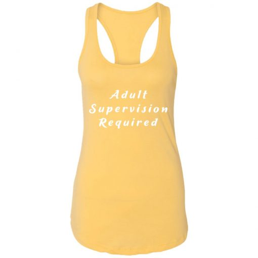 Private: Adult Supervision Required Racerback Tank