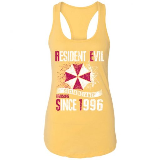 Private: Resident evil social distance training since 1996 Racerback Tank