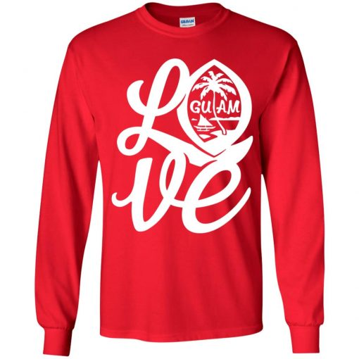 Private: I Love Guam Youth LS T-Shirt