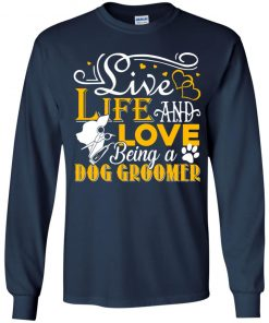 Private: Love Being A Dog Groomer Youth LS T-Shirt