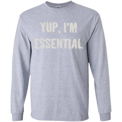 Private: Yup I'm Essential Youth LS T-Shirt