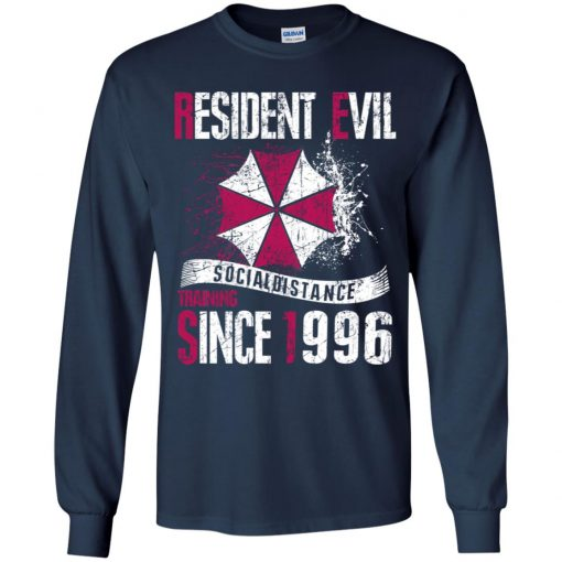 Private: Resident evil social distance training since 1996 Youth LS T-Shirt