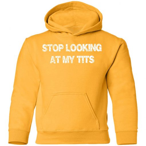 Private: Stop Looking At My Tits Youth Hoodie