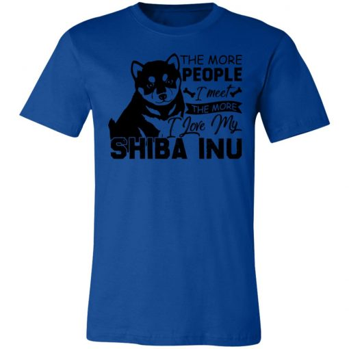 Private: The More People I Meet The More I Love My Shiba Inu Unisex Jersey Tee