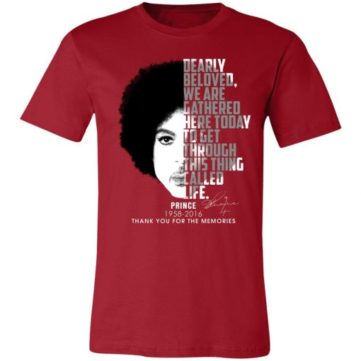 Private: Prince 1958-2016 Thank You For The Memories Unisex Jersey Tee