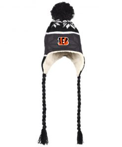 Private: Cincinnati Bengals Hat with Ear Flaps and Braids