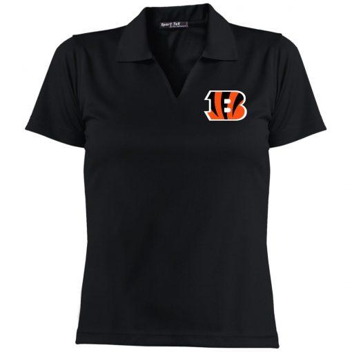 Private: Cincinnati Bengals Ladies' Dri-Mesh Short Sleeve Polo