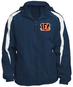 Private: Cincinnati Bengals Fleece Lined Colorblocked Hooded Jacket