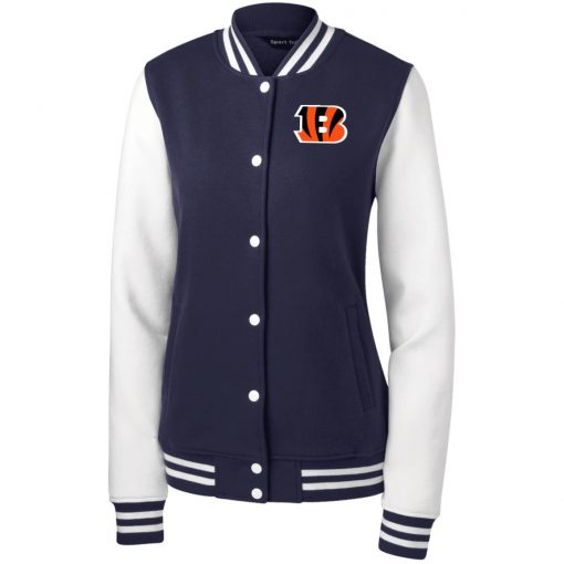 Private: Cincinnati Bengals Women's Fleece Letterman Jacket