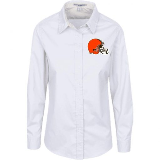 Private: Cleveland Browns Ladies' LS Blouse