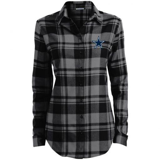 Private: Dallas Cowboys Ladies' Plaid Flannel Tunic