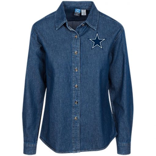 Private: Dallas Cowboys Women's LS Denim Shirt